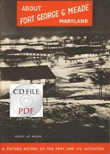 CD File About Fort George G. Meade Booklet WW2 PDF