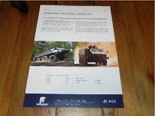 PGZ ROSOMAK Armoured Personnel Carrier 6x6 Militär Military Vehicles brochure