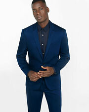 UNWT EXPRESS SLIM FIT NIGHT BLUE COTTON PHOTOGRAPHER SUIT  (ALL SIZES) NEW