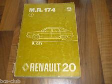 RENAULT 20 R20 Auflage 1976 Motor Technik Fahrwerk General WERKSTATT HANDBUCH