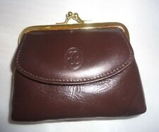 Buxton Coin & Card LEATHER Change Purse, Brown