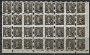 CANADA - #O17 - 2c KING GEORGE VI G OVERPRINT BLOCK OF 32 MNH