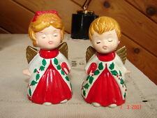 2 Vintage LEFTON Angel Figurines - Boy & Girl - With Labels