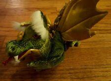 "Folkmanis 20"" Full Body Green Dragon Puppet Plush Stuffed Animal"
