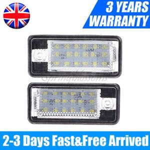 2Pcs Car LED License Number Plate Light Lamp Bulbs For Audi A3 S3 A4 A6 B6 B7 Q7