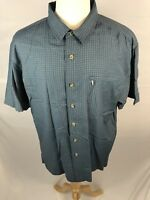 The North Face Mens Short Sleeve Button Front Shirt Plaid Size XL