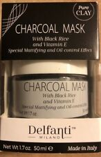 New Delfanti Milano Charcoal Mask w/ Black Rice & Vitamin E Made in Italy,1.7 oz