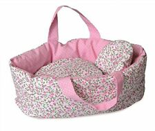 Big Doll Carry Cot with Flower Bedding