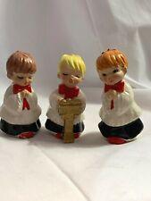 Vintage Lefton Japan Christmas Carolers Set of 3