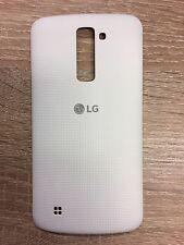 original Tapa de batería LG K10 K420N blanco Cubierta Carcasa