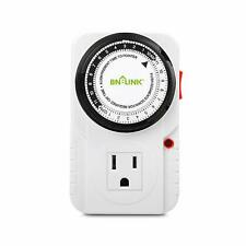 BN-LINK 24 Hr Plug in Mechanical Grounded Programmable Timer Indoor Heavy Duty