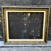 "Vintage 21""x25"" Painted Gold Wood Ornate Picture Frame"