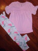 SZ 5 T BABY GAP KIDS Disney's LITTLE MERMAID Ariel Pink Aqua Leggings Shirt NWT