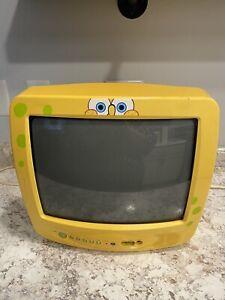 """SpongeBob SquarePants 13"""" CRT Vtg Retro Gaming TV Emerson W/ Remote **SEE VIDEO*"""