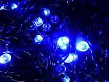 Christmas Tree Fairy Lights 50 Blue Xmas Indoor Outdoor Battery Timer LED
