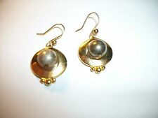 Gold-tone and Silver-tone Dangle Vintage Earrings