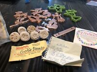 Vintage Cookie Cutter /Press Set Lot Maraners 6 Stoneware Stamp + Copper Cutters