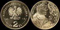 Pologne. 2 Zloty. 2013 (Pièce KM#Y.883 Neuf) A. Osiecka
