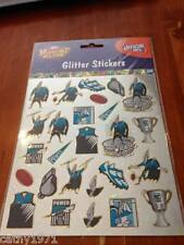 Sheet of GLITTER Port Adelaide Power AFL Stickers - For Scrapbooking and Craft
