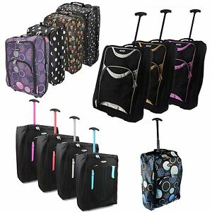 EZ Wheeled Luggage Hand Trolley Small Travel Bag  Ryanair Cabin Suitcase Holdall