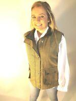 New English Ladies Woven Tweed Green Waistcoat 8 10 12 14 16 18