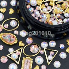 Mixed style metal 3d nail art decorations rhinestones pearls frame accessoires P
