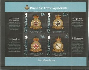GIBRALTAR 2012 ROYAL AIR FORCE SQUADRONS 1ST SERIES SG,MS1456 UM/M NH LOT 8632A
