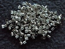 500 Silver Plated Crimp Tubes 2mm.