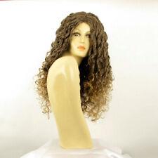 Parrucca donna ricci lunga castano mechato dorato   EVA 6T24B e40414bac29