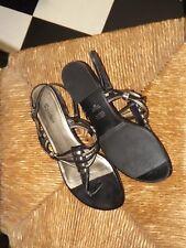 Sandler Black Leather Sandals ~ Size 8 B ~ Excellent Condition