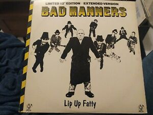 """BAD MANNERS LIP UP FATTY LIMITED EDITION 12"""" VINYL EXTENDED VERSION SUPERB SKA"""