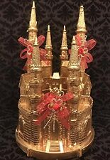 Gold Castle Cake Topper Centerpiece Gift Birthday Wedding All Occasion Keepsake