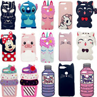 Cute 3D Cartoon Soft Silicone Phone Case Cover For Huawei Y6 7 2018 P Smart 2019