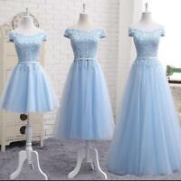Hot Ladies Formal Evening Party Prom Ball Gowns Wedding Bridesmaid Dresses LACE