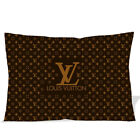 Louis Vuitton Logo Printted pillow case two side picture size 18'' x 26''