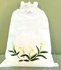 Cotton drawstring bag - laundry, lingerie, craft,  handbag, nappy etc storage