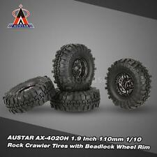 4Pcs AUSTAR AX-4020C 1.9 Inch 110mm 1/10 Crawler Tires +Wheel Rim Cool Car