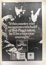 "BOB PEGG (Mr Fox) Ancient Maps 1975 UK Poster size Press ADVERT 16x12"""