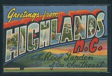 "Large Letter Postcard - North Carolina - ""Greetings From Highlands"""