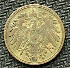 1898 G Germany 1 Pfennig coin VF    KEY DATE   World Coin     #C917