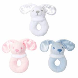 Baby Bunny Rabbit Rattle Newborn Boy Girl Soft Toy Gift Baby Shower