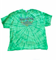 Bike Week Daytona Beach Men's T-Shirt 3XL Motorcycle Eagle Green Tye Die (A9wl