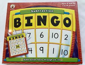 Carson Dellosa Subtraction Bingo Math Game NEW!