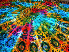 Tie& Dye Psychedelic  Throw Wall Hanging Gypsy Bedspread Tapestry Home Decor Art