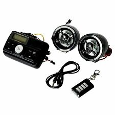 Motorcycle Handlebar Stereo USB SD FM Radio Skull MP3 for Amplifier Speaker