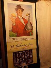 """Sebewaing Brewing Co Michigan 1961 """"Gay Philosopher"""" Beer Advertising Calendar"""