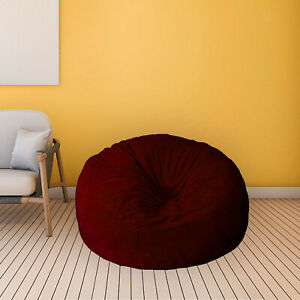 Bag Bed Slipcover Comfortable Soft Lazy Sofa Recliner Pouf Cover