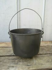 Vintage / Antique Cast Iron 3 Footed Cauldron Pot With H 8 Stamp B0101