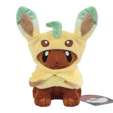 Pokemon Plush  Eevee Poncho Leafeon Cloak Stuffed Animal Soft Toy 8inch