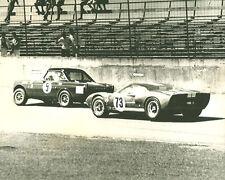 Vintage 8 X 10 1965 Daytona 24 Hour Ford GT40 Winner & Sunbeam Tiger